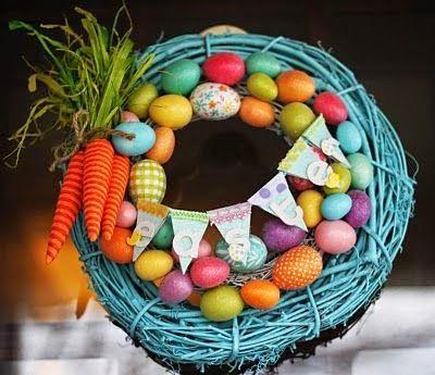 Running a Crazy Life: Easter Crafts, wreaths