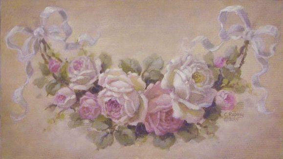 Resultado de imagen para damas con flores óleo