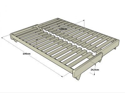 Sofá-cama Fresh estructura en posición cama. Haiku-Futon ...