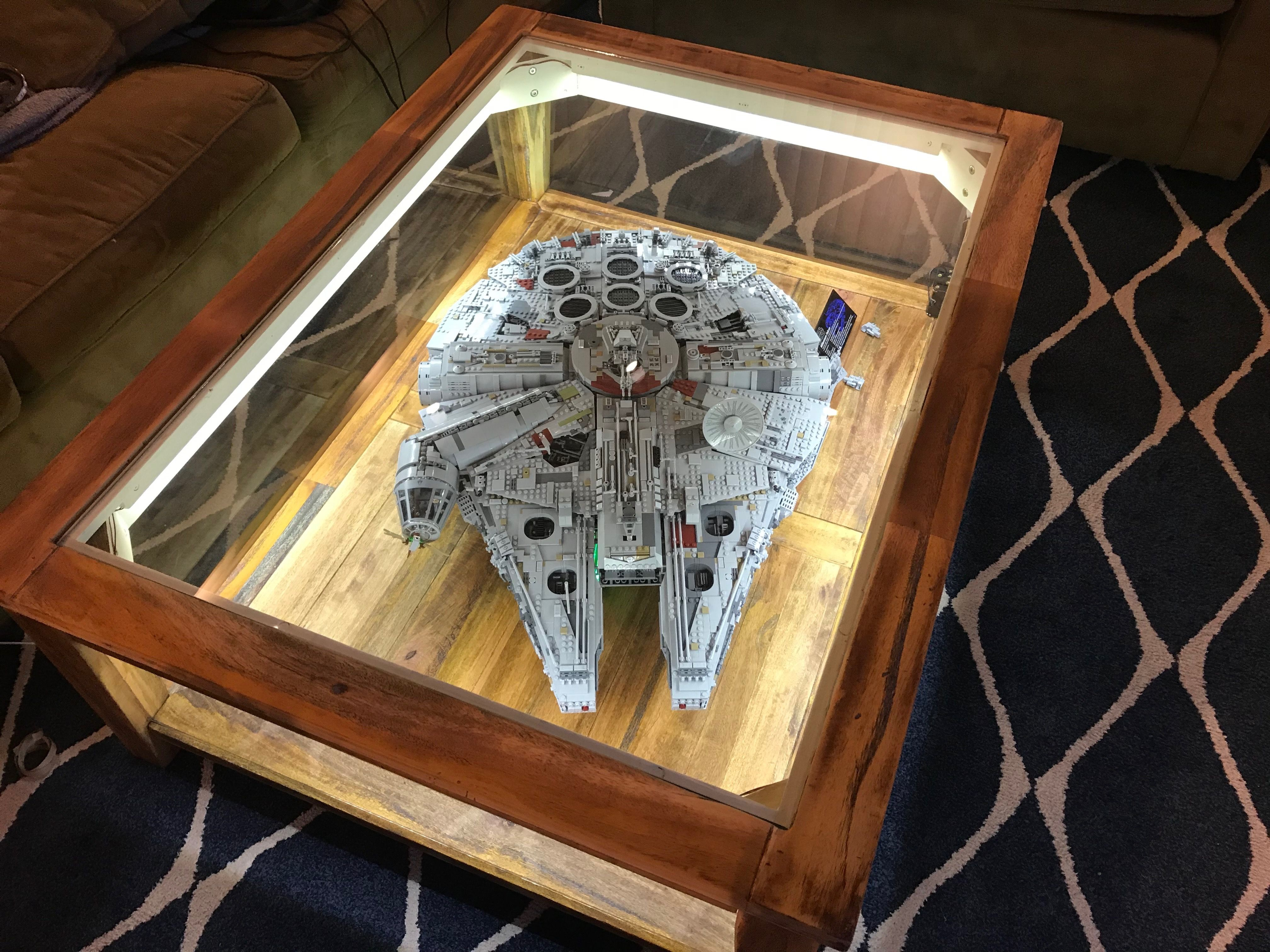 I Find And Repurpose Old Coffee Tables And Turn Them Into Cool Led Lit Displays This One Holds The Large Mi Star Wars Decor Star Wars Room Star Wars Basement [ 3024 x 4032 Pixel ]