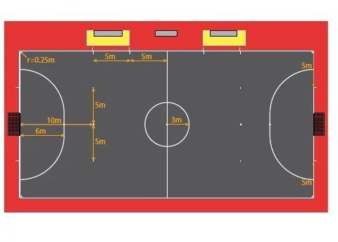 Al Igual Que Pasa Con El Fútbol El Fútbol Sala O Futsal También Tiene Sus Especificaciones En Cuanto A Las Cancha De Futbol Sala Cancha De Futsal Futbol Sala