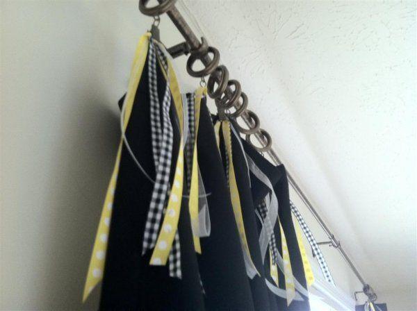 Embellishing Curtain With Ribbon