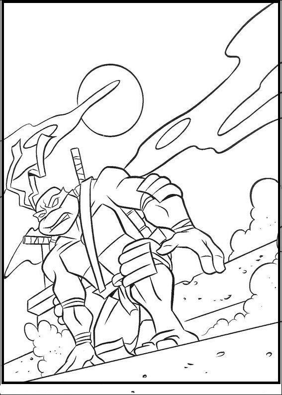 Teenage Mutant Ninja Turtles Leonardo Coloring Picture For Kids