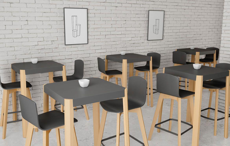 Mesas para decoraci n de cafeter a decoraci n negocio - Sillas para cafeterias ...