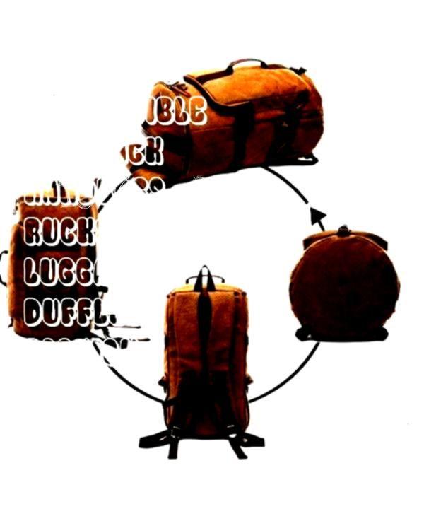 Travel Gear Travel Duffles Canvas Travel Duffel Tote Multipurpose Luggage Bag Convertible Backpack Hiking Rucksack  Grey  CB18C6XW88O Luggage  Travel Gear Travel Duffles...