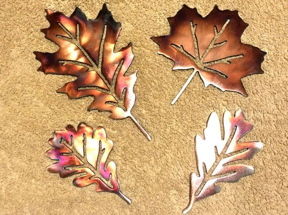 Metal Wall Art Plasma Cut Leaves by PetersonMetalDynamic on Etsy ...