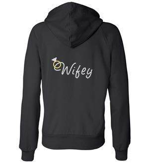 full zip hoodie. I know where im getting all my wedding and bridal party comfy wear!!