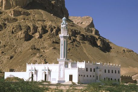 White mosque, Tarim, Yemen.
