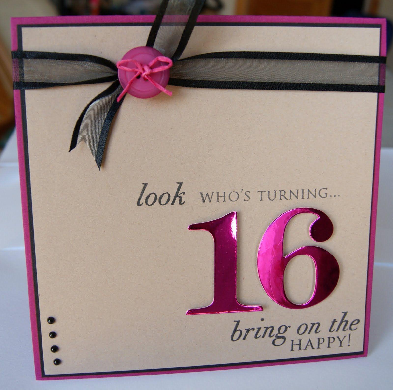 Birthday Invite Super Cute 16th Birthday Card Girl