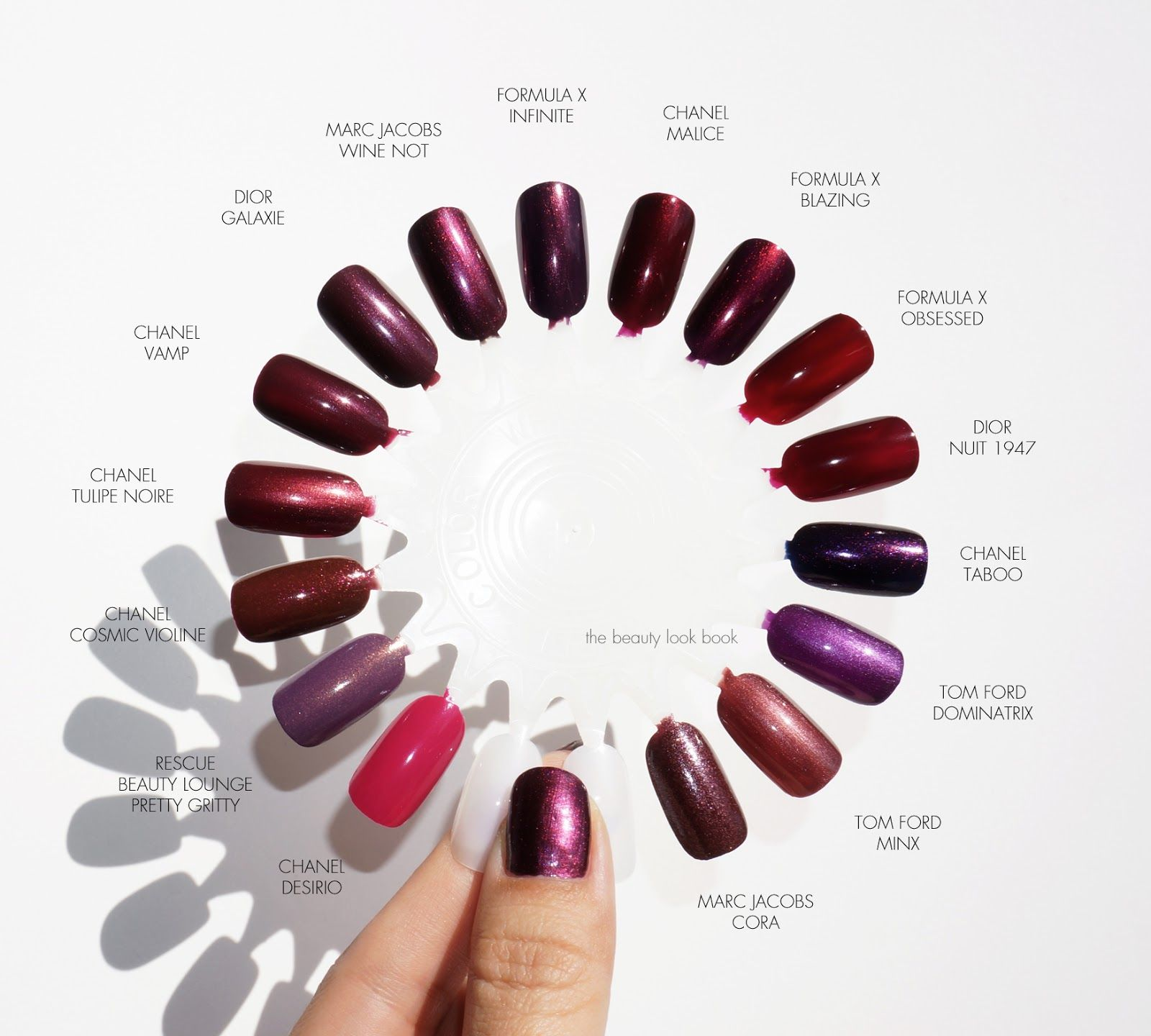 Nail Polish Swatch Book: The Beauty Look Book: Marc Jacobs Beauty Enamored Hi-Shine