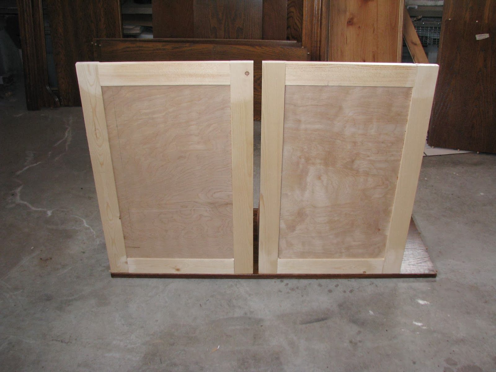 Cabinet Doors I Made These With 1 2 Birch Plywood For The Middle And 1x3s For The Frame Making Cabinet Doors Cost Of Kitchen Cabinets Simple Kitchen Remodel
