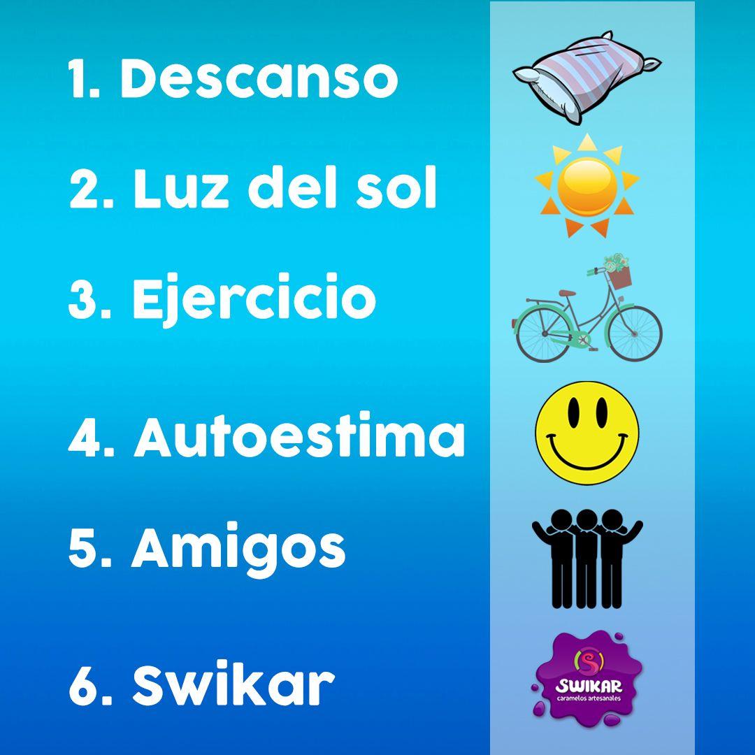 Los seis mejores doctores: Descanso, Luz del sol, ejercicio, autoestima, amigos y SWIKAR. #CaramelosArtesanalesCartagena #CaramelosArtesanalesBogota #CaramelosArtesanalesCali