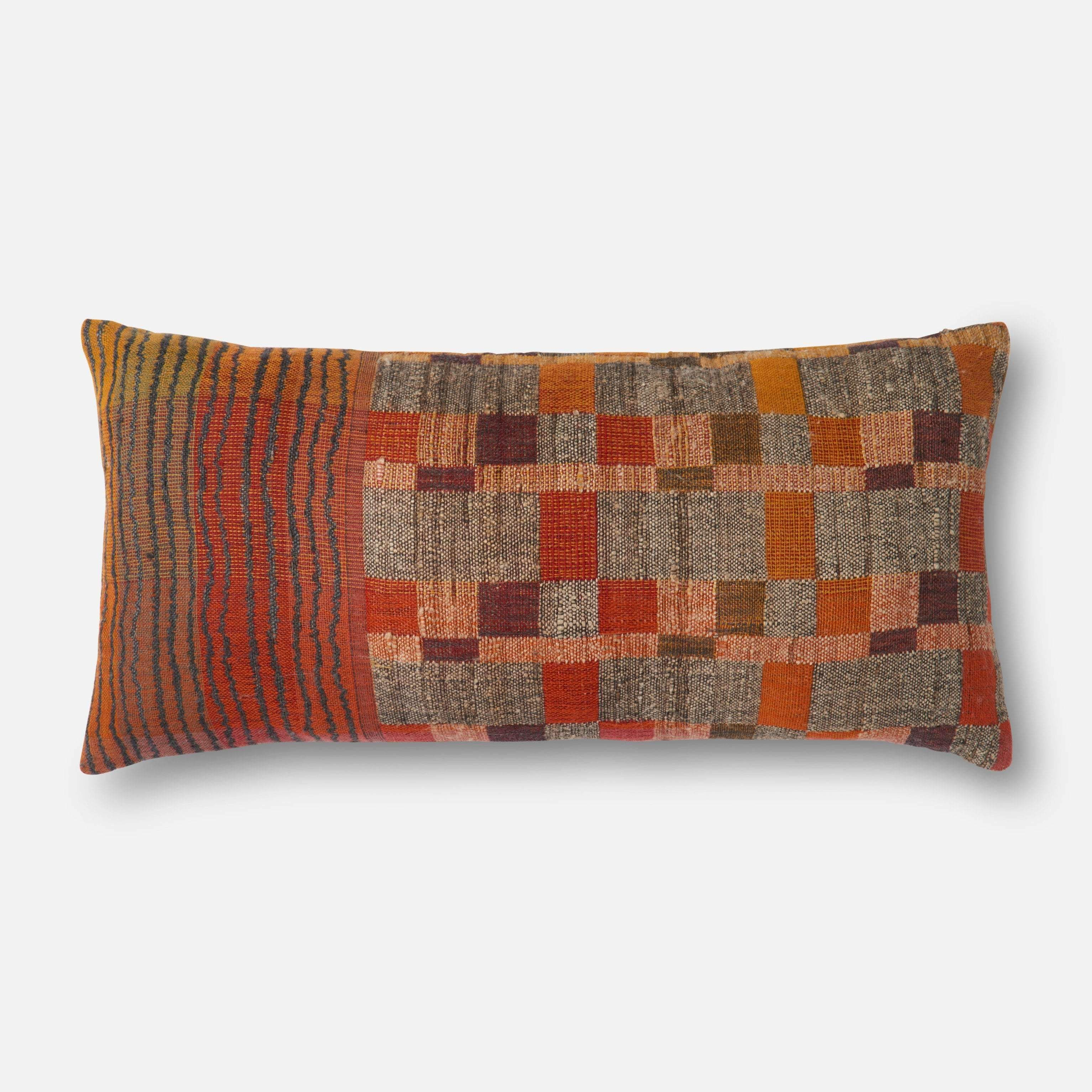 Texture Throw Pillow, Red Multi