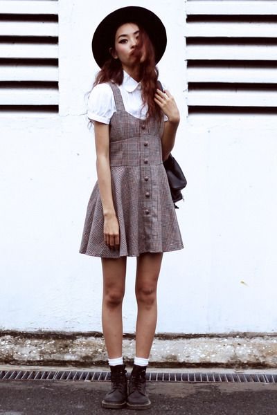 Off To The Races Overalls Fashion Dr Martens Outfit Cute Vintage Outfits