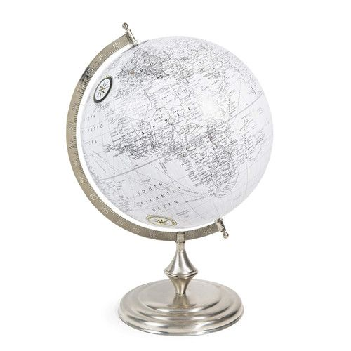 globe en plastique blanc chelsea maisons du monde homestyle deco pinterest globe map. Black Bedroom Furniture Sets. Home Design Ideas
