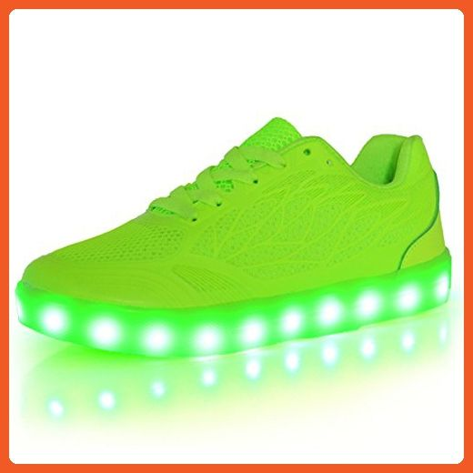 Joymoze Rechargeable Lightweight Breathable Mesh 7 Colors Light Up Led Shoe Green T 17 36 Sneakers For Women Amazo Led Shoes Girls Light Up Shoes Led Shoes