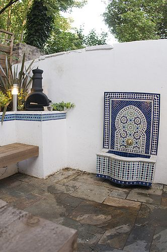 The Moroccan Courtyard Garden by Earth Designs  www earthdesigns co uk  London Garden Design and landscape build  is part of Courtyard garden Lighting -   Earth Designs is located in East London, but has built gardens in Essex , gardens in Hertfordshire Hertfordshire and all over the South East  Earth Designs was formed by Katrina Wells in Spring 2003 and has since gone from strength to strength to develop a considerable portfolio of garden projects  Katrina, who is our Senior Garden Designer, has travelled all over the UK designing gardens  However we can design worldwide either through our postal garden design service or by consultation with our senior garden designer  Recent worldwide projects have included garden designs in Romania  Katrina's husband  Matt, heads up the build side of the company, creating a unique service for all our clients  If you a not a UK resident, but would like an Earth Designs garden, Earth Designs has a worldwide design service through our Garden Design Postal Design Vouchers  If you are looking for an unique birthday present or original anniversary present and would like to buy one of our Garden Design Gift Vouchers for yourself or as a present please our sister site www gardenpresents co uk  We do also design outside of the UK, please contact us for details