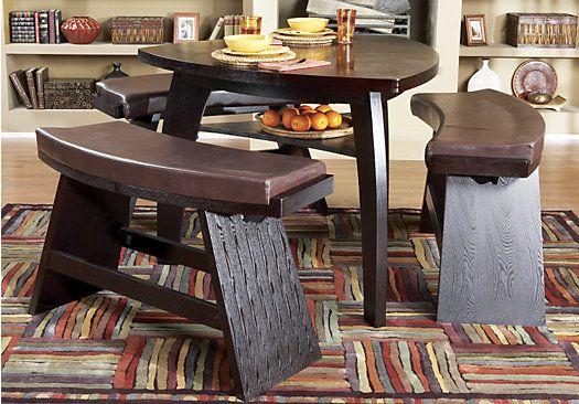 Noah Chocolate 4 Pc Bar Height Dining Room With Chocolate