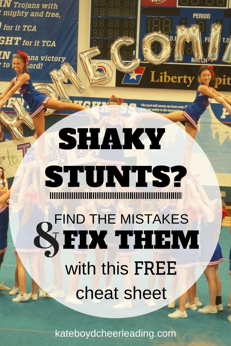 Free Stunt Guide Kate Boyd Cheerleading Varsity Cheer Cheerleading Coaching Cheer Routines