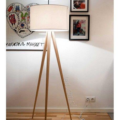 Lampa Podlogowa Tripod Wood White Zuiver Meble Lampy Fornir I Meble