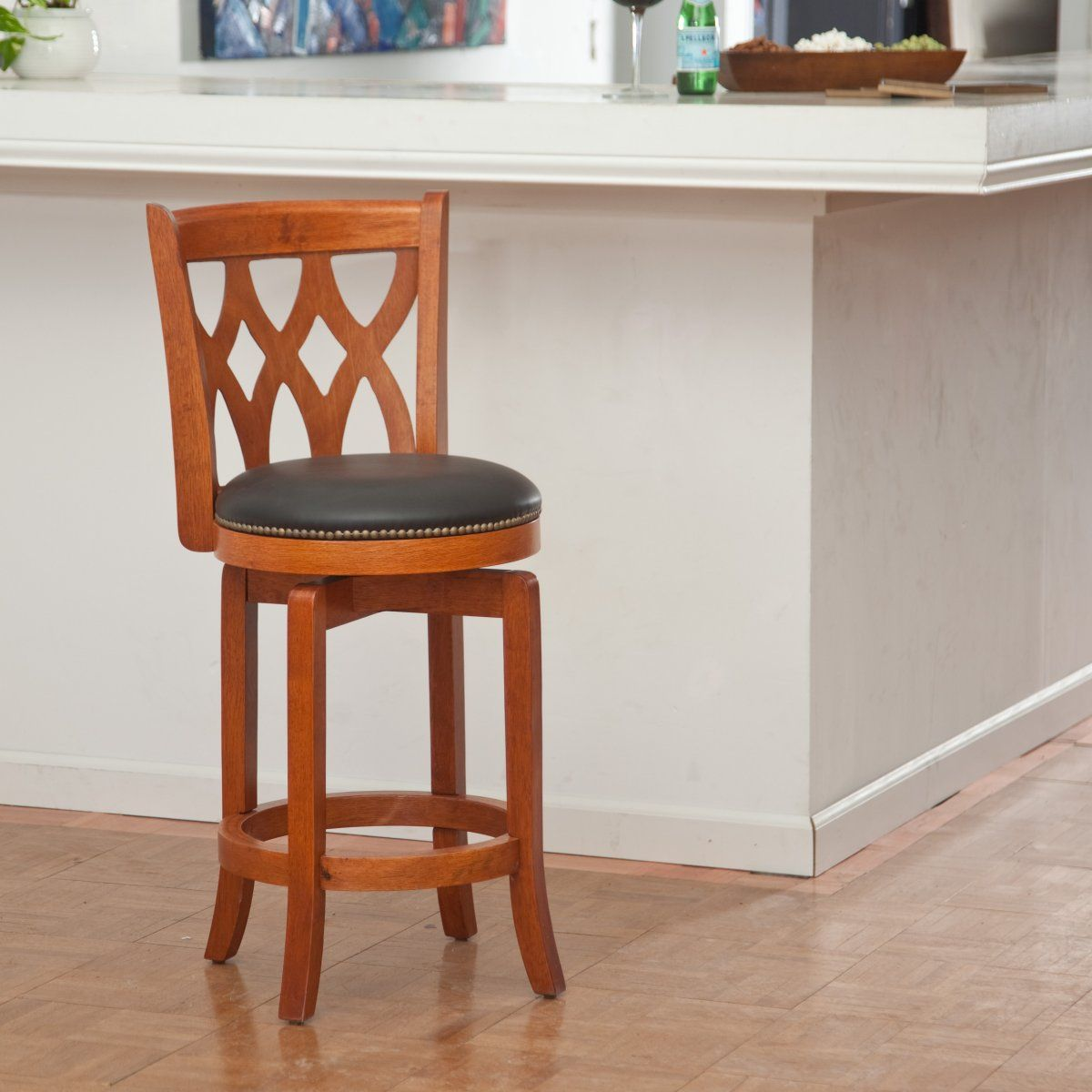 Boraam 24 Inch Cathedral Swivel Counter Stool