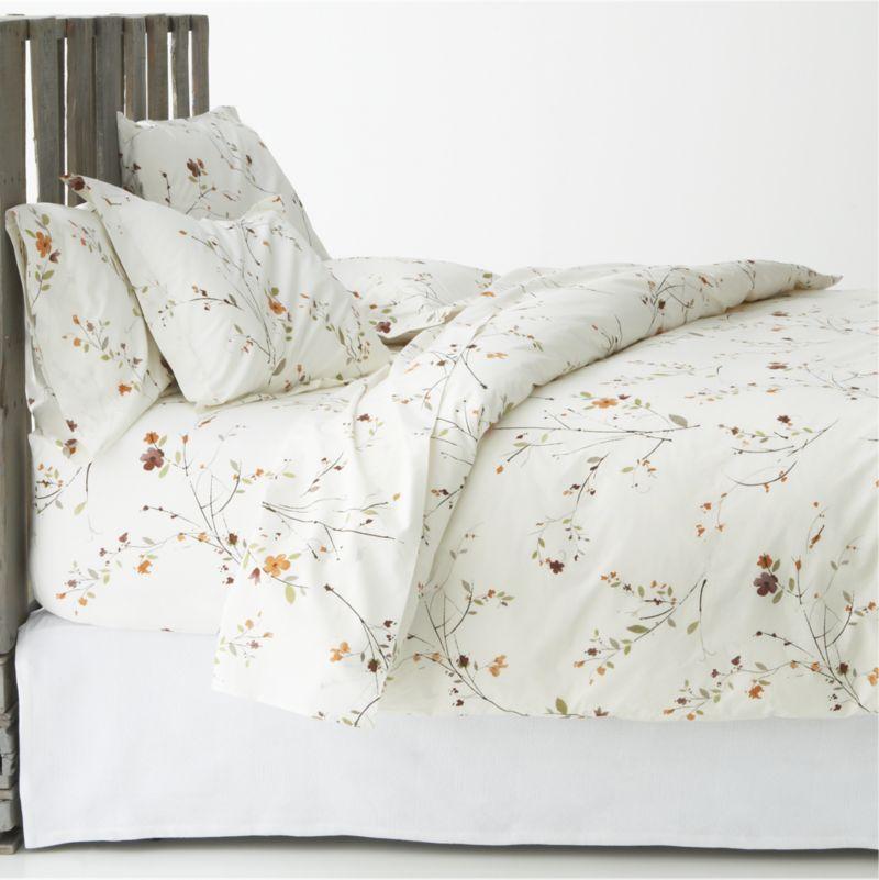 Sakura Bed Linens Crate And Barrel Scandinavian Bed Linen Bed Furniture Bed