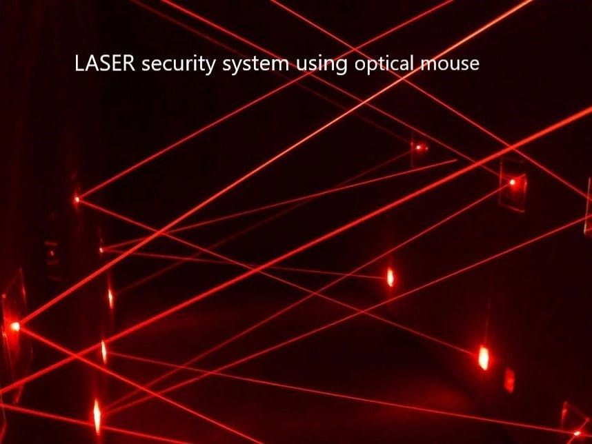 Laser Security System Using Optical Mouse Wireless Home Security Systems Best Home Security Home Security