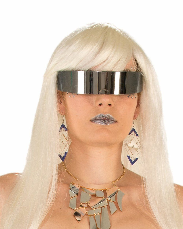Futuristic mirror wrap around glasses toys