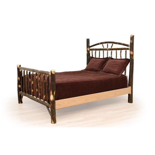 Rustic Hickory Wagon Wheel Bed *King*- Amish Made USA | ADK ...