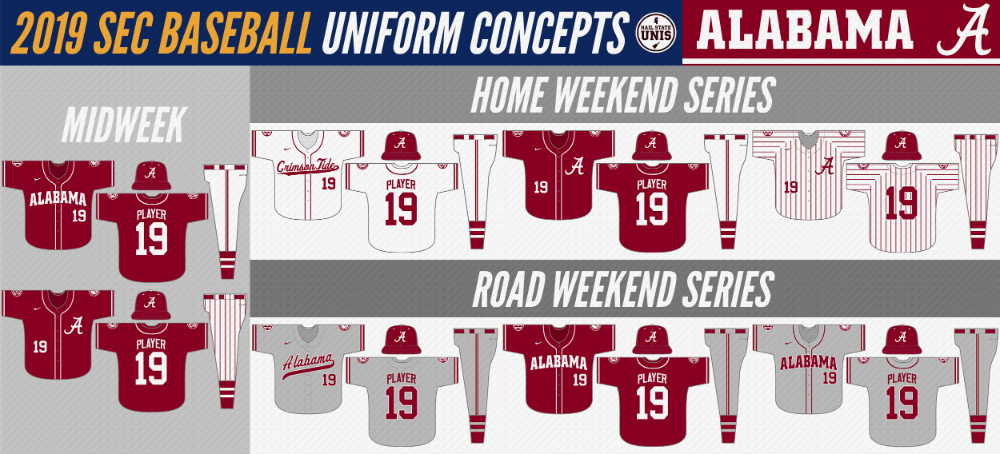 2019 SEC Baseball Uniform Concepts in 2020 Baseball
