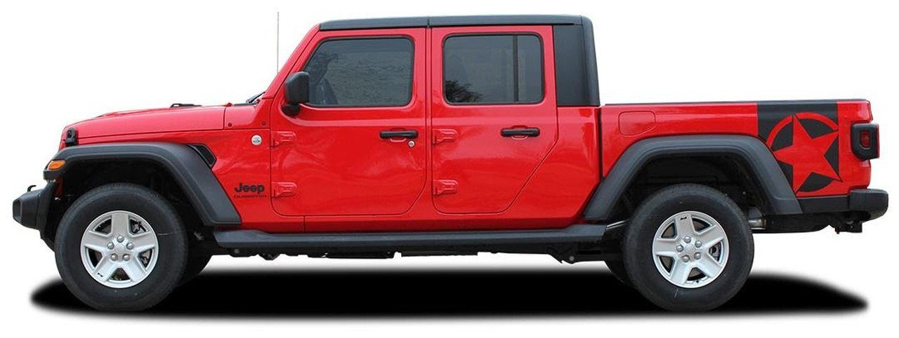 BOOTSTRAP Jeep Gladiator Side Star Vinyl Graphics Decal