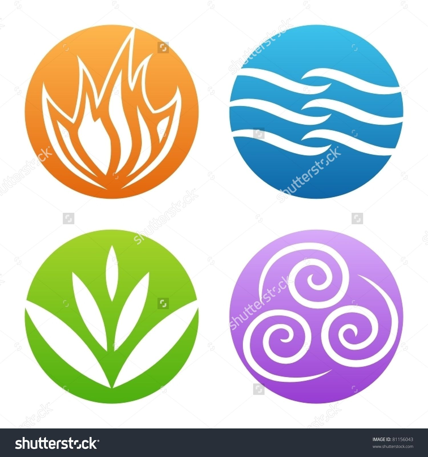 Earth Wind Fire Water Stock Vectors Vector Clip Art Shutterstock