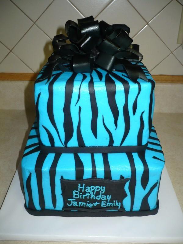 Outstanding Blue Zebra Print With Images Zebra Birthday Cakes Zebra Print Funny Birthday Cards Online Alyptdamsfinfo