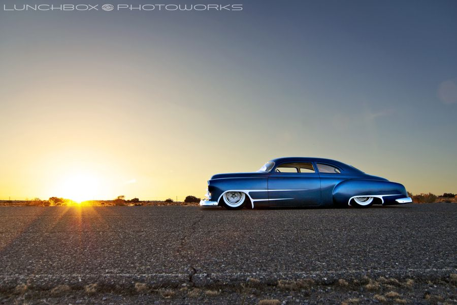 sunset profile chevy styleliner chopped bagged channeled white wall tires scallops air bags