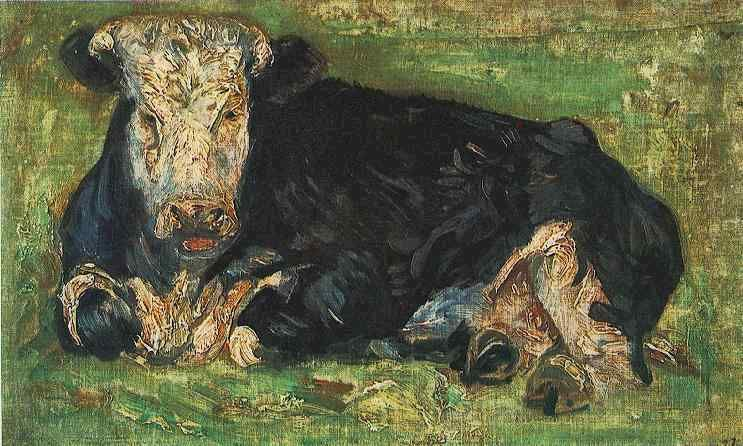 Lying Cow by Vincent Van Gogh Did you know Van Gogh painted this cow? Check out more art at the 8th Annual Artist Expo in The Woodlands!