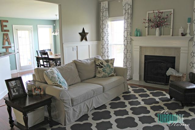 Living Room Makeover Part 7 Final Reveal The Turquoise Home If I Didn