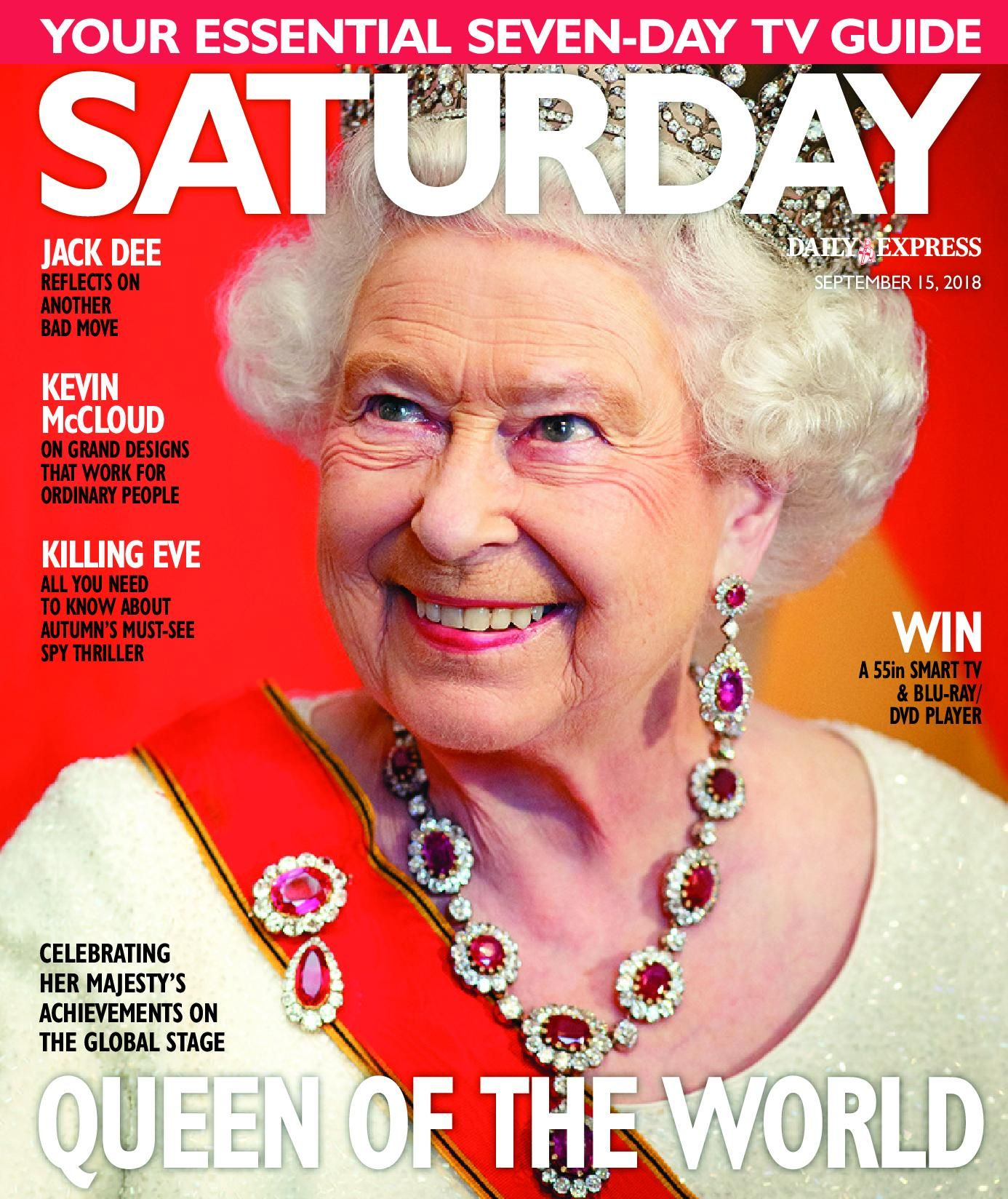 magazinelib: Queen Elizabeth on the cover of Saturday Magazine