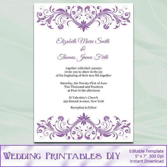27 Personalized Stationery Templates: DIY Printable Wedding Invitation Templates