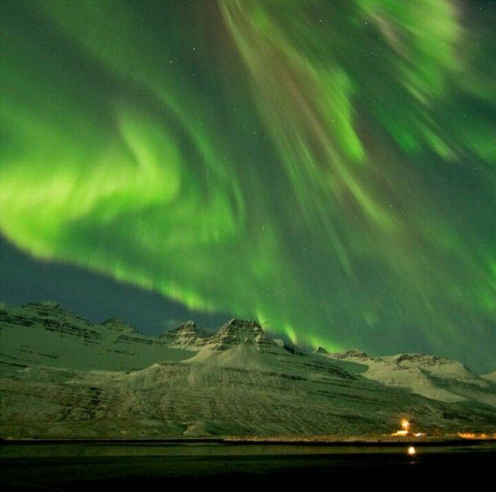 Green northern lights ♥