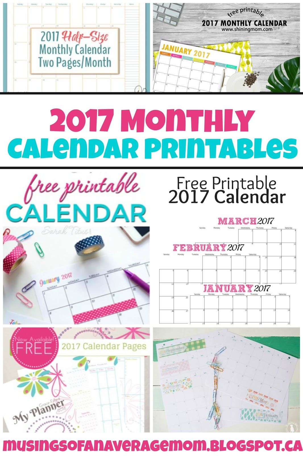 Monthly Calendars  Calendar Printable Free Printable
