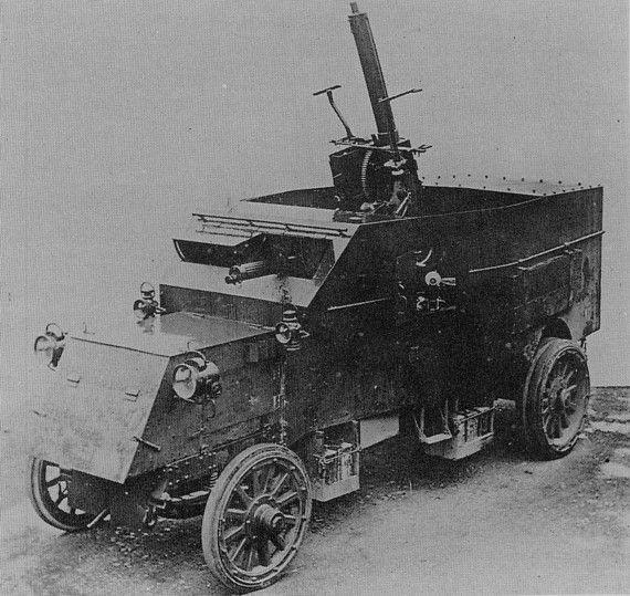 British Pierce Arrow Armoured Aa Lorry Wwi Armored Vehicles