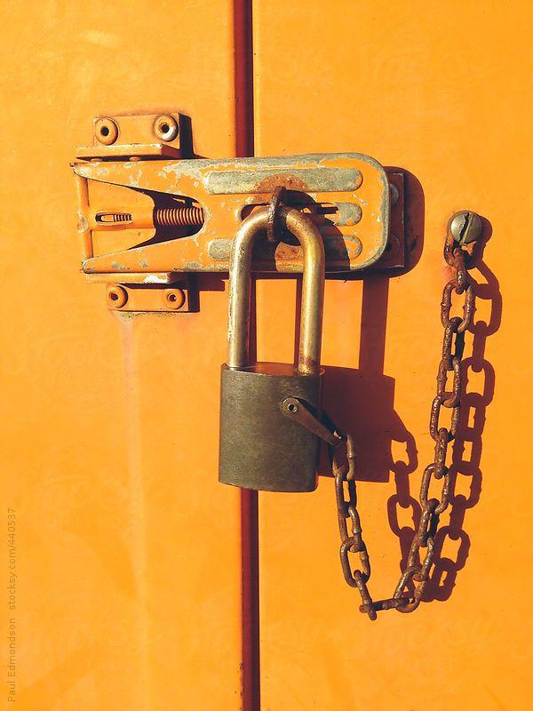 lock on door close up by paul edmondson shades of orange orange aesthetic illustration courses orange aesthetic