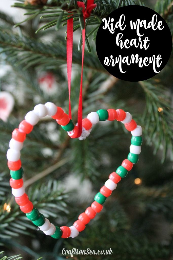 Heart Shaped Easy Christmas Ornaments For Kids Christmas Tree Decorations For Kids Heart Christmas Ornaments Easy Christmas Ornaments