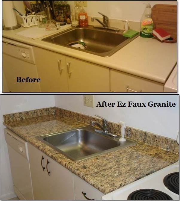 Awsome Instant Faux Fake Granite Counter Top Film Overlay Roll Gold 36 X12ft Countertops Faux Granite Peel And Stick Countertop