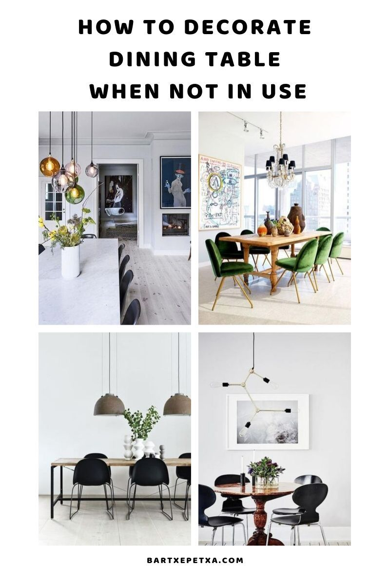 How To Decorate Dining Table When Not In Use Dining Table Centerpiece Dining Table Decor Dining Room Table Decor