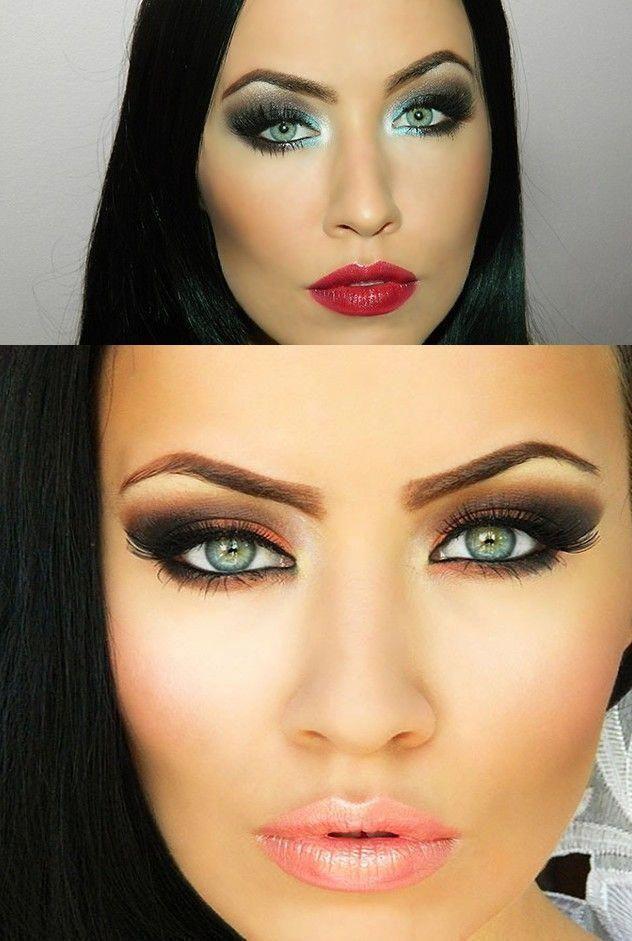 Smokey eye makeup tutorial for brown eyes|Black smokey eye ...