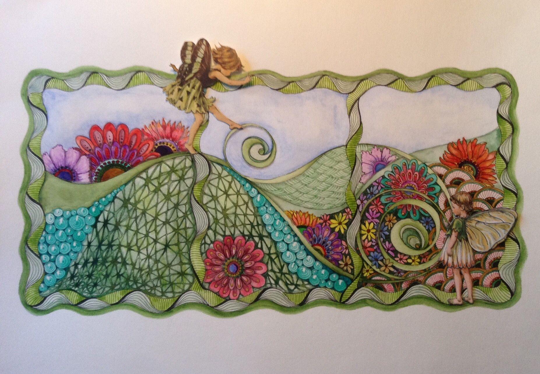 Zentangle Fairy Twinkling H2o Watercolors Tangled Moonshine Schetsboek