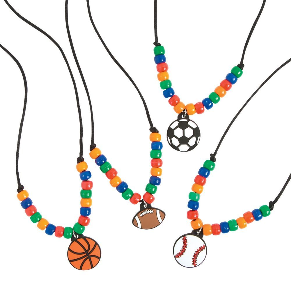 Sports Necklace Craft Kit Vbs Crafts Sport Themed Crafts Sport Craft