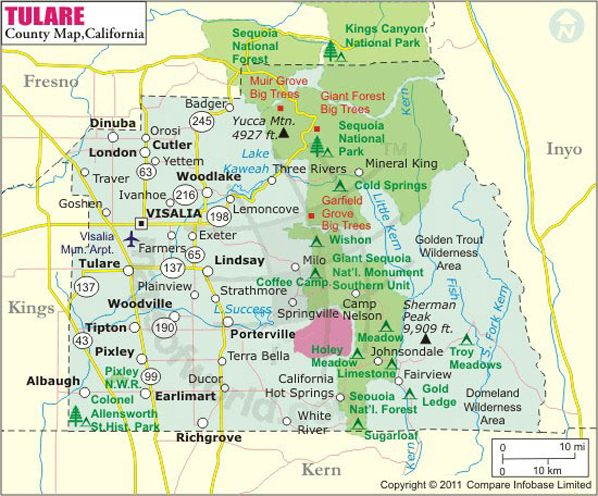 Map Of Tulare Ca Tulare County Map | #TC #559 #TULARE # CALI | Tulare county