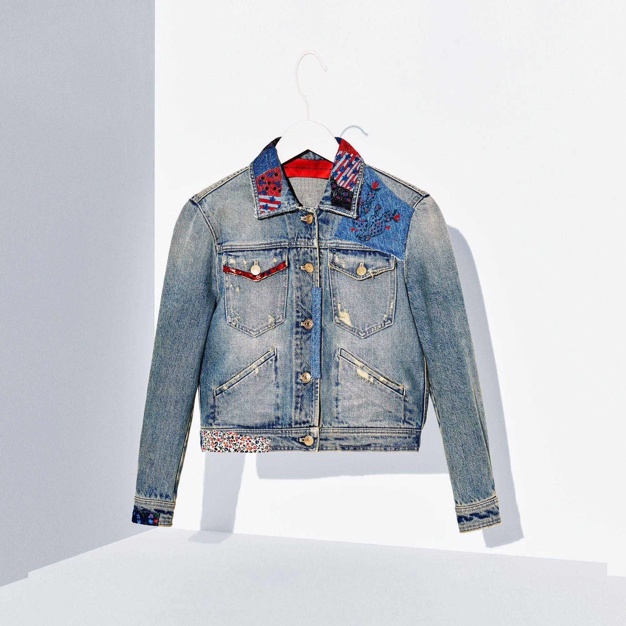 Tommy hilfiger denim jacket vintage denimmulti tommyhilfiger